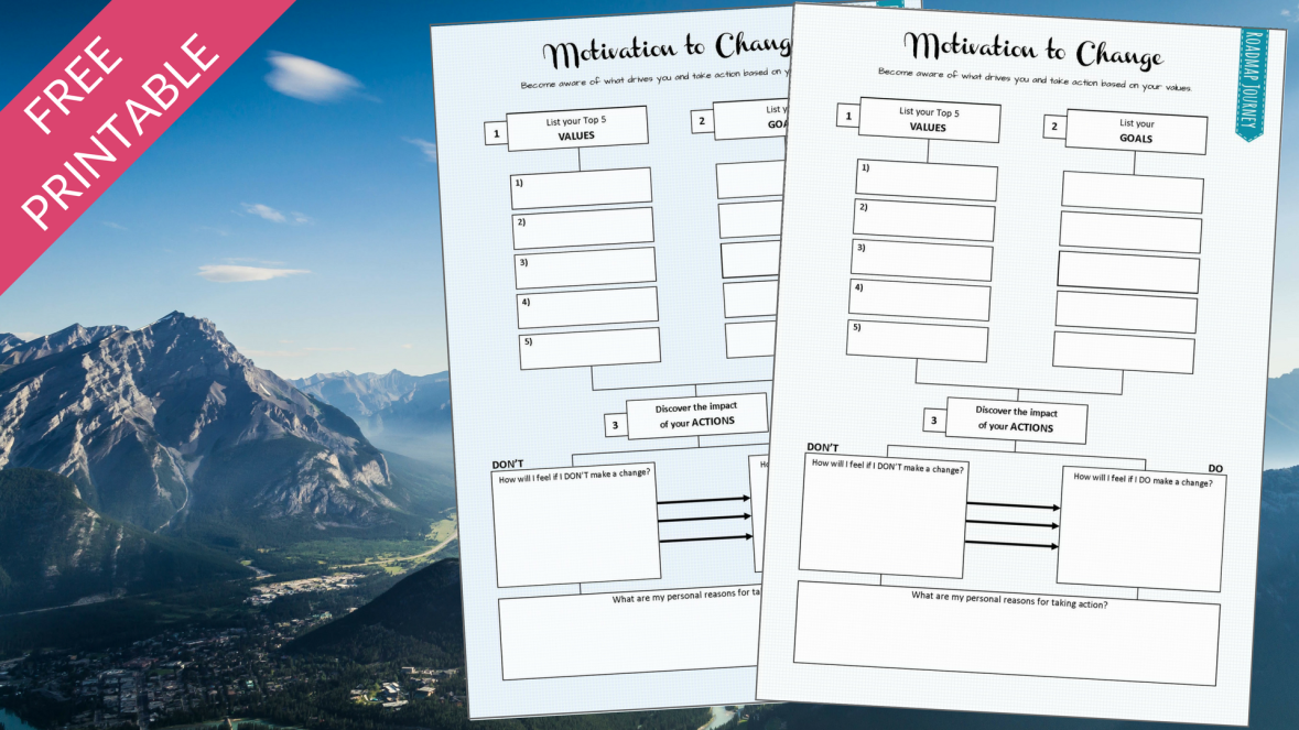 Free printable. Taking consistent action and knowing your why (motivation) to achieve your goals.