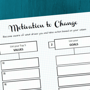 Become aware of what drives you and take action based on your values with this free printable.